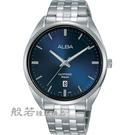 ALBA 雅柏 都市簡約紳士腕錶-銀X藍...