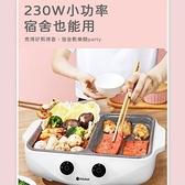 【現貨】一體鍋 多功能電煮鍋 烤盤 110V 電烤爐 無煙不粘 涮烤煎煮 一體鍋 萬能鍋 超商