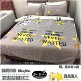 雙人(150*186cm)鋪棉床包/極細纖維/雙人兩用被四件組  -星光動人- 舒適磨毛布 【御元居家】
