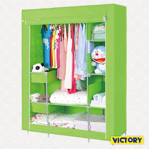 【VICTORY】112x45x165cm彩豔防塵衣櫥(TB-1409S)#1327010 不織布衣櫥 衣櫃 簡易收納櫃