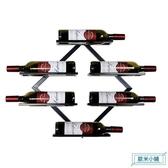 酒架 紅酒架鐵藝壁掛酒架葡萄酒家用墻上鐵藝客廳墻掛現代簡約創意美式