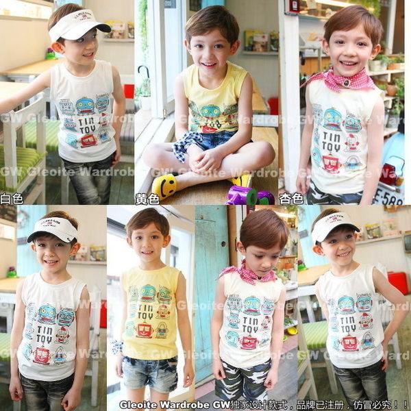 韓版《可愛機器人》短袖背心