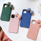 蘋果 iPhone11 Pro Max iPhoneXS Max XR iPhone8 iPhone7 毛氈蝴蝶結 手機殼 毛絨 保護殼