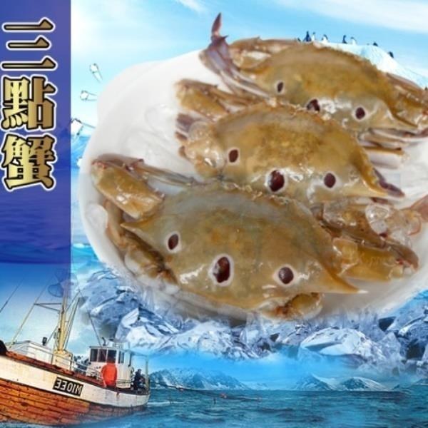 【南紡購物中心】【賣魚的家】嚴選急凍三點蟹-9隻組
