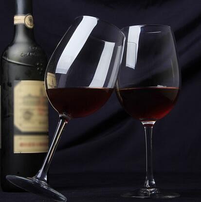 2隻紅酒杯無鉛水晶玻璃高腳杯 葡萄酒杯 兩隻裝 酒具套件