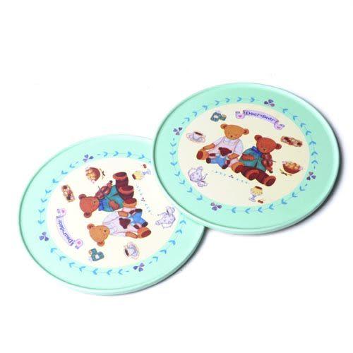 【九元生活百貨】2入小熊杯墊 隔熱墊