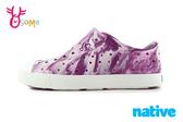 native 水鞋 洞洞鞋 寶寶鞋 中小童 奶油頭鞋 懶人鞋 L9410#紫色◆OSOME奧森鞋業