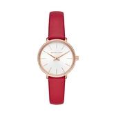 【Michael Kors】Pyper典雅氣質晶鑽時尚腕錶-亮眼紅/MK2869/台灣總代理公司貨享兩年保固