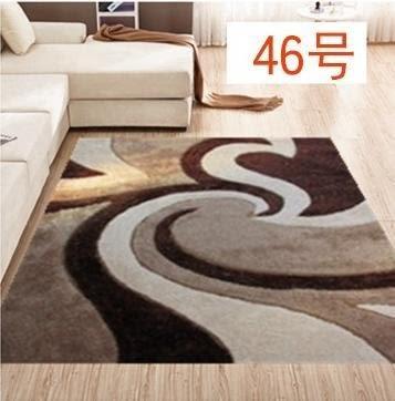 彈力絲亮絲圖案地毯  客廳茶幾地毯【潮咖範兒】