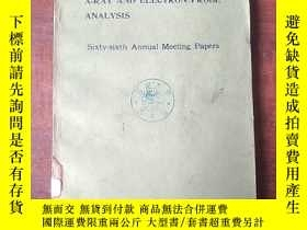 二手書博民逛書店ASTM罕見symposium on X-ray and electron probe analysis(P332