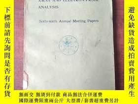 二手書博民逛書店ASTM罕見symposium on X-ray and electron probe analysis(P332