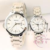 情侶對錶 新品時尚商務雙日歷鋼帶情侶手錶一對男女士休閒鑲鉆學生石英錶潮 快速出貨