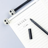 【BlueCat】萬聖節夜光骷顱頭縫線嘴水性筆 中性筆