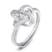 戒指 925純銀 鑲鑽-高貴大方生日母親節禮物女飾品73dx77【時尚巴黎】