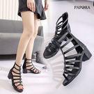 涼鞋‧基本款羅馬造型粗跟涼鞋【K005-15】黑