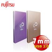 【Fujitsu 富士通】2.5吋 USB3.0金屬鋁殼髮絲紋路設計外接式硬碟外接盒-7mm(未含硬碟)