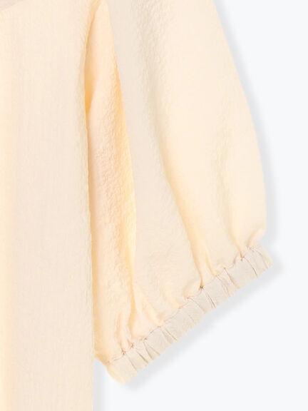 「Summer」後綁結層次設計泡泡袖上衣 (提醒 SM2僅單一尺寸) - Sm2