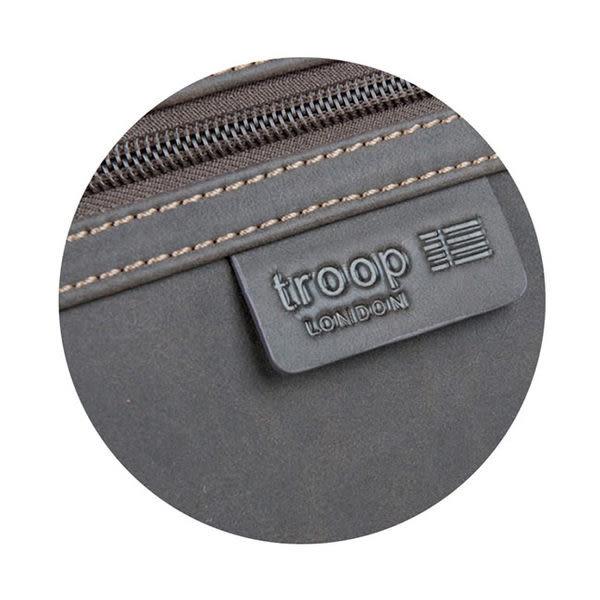 TROOP 英國 經典新風格FAUX LEATHER斜背包 真皮包 巧克力色 /TLL001CE