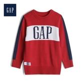 Gap男幼童時尚徽標LOGO圓領針織衫516545-熱情紅