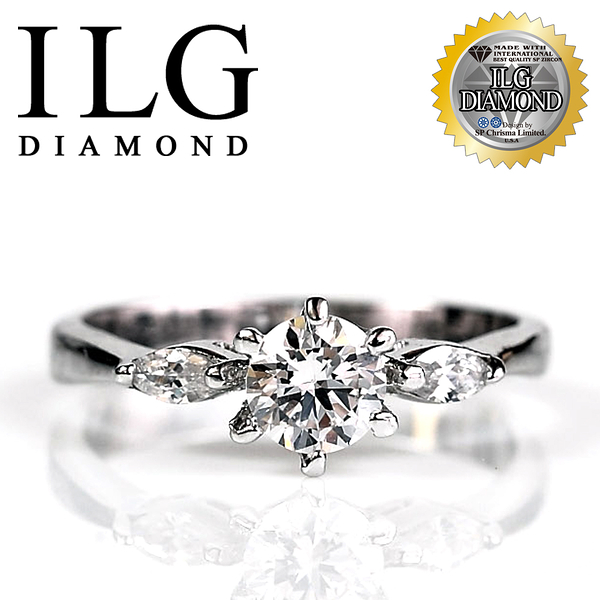 【ILG鑽】頂級八心八箭鑽石戒指-幸福感動款 主鑽50分 女性朋友口碑最愛款式超擬真鑽飾 RI001