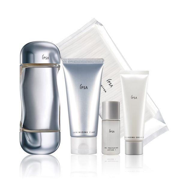 IPSA 購 泥狀角質按摩霜e+美膚微整機能液 贈 透明潔膚乳e50ml+角質發光液30ml+化妝棉50入