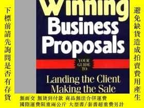 二手書博民逛書店Writing罕見Winning Business Propos