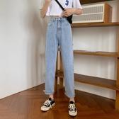 新品特價 夏季韓版新款高腰顯瘦闊腿褲寬松百搭九分牛仔褲女直筒褲子