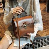 百搭小方包單肩包純色氣質休閒手提包斜背包小包包女包潮