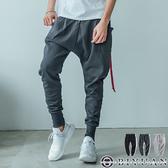 MIT 大口袋 飛鼠褲 休閒褲【JG3093】OBIYUAN 厚磅休閒長褲/縮口褲 共3色