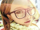 【櫻桃飾品】黑色方框豹紋眼鏡 平光鏡   【20769】