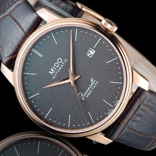 MIDO Baroncelli III 永恆系列復刻紳士機械腕錶 M0274073608000