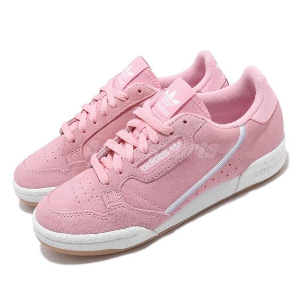 【海外限定】adidas 休閒鞋 Continental 80 W 粉紅 麂皮 女鞋 膠底 運動鞋【ACS】 G27720