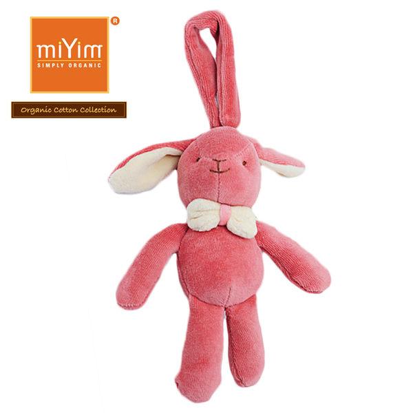 【美國miYim】有機棉 安撫玩具 手搖鈴 - 推車娃娃 - 邦妮兔兔(紅)