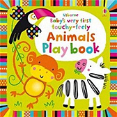【麥克書店】BABYS VERY FIRST TOUCHY-FEELY ANIMALS PLAY BOOK / 寶寶的可愛觸摸書