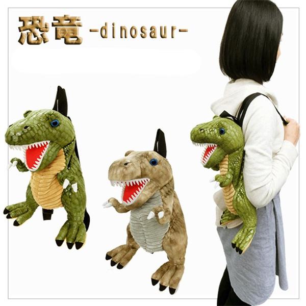 暴龍 娃娃 後背包 大人 小孩適用 UNIQUE 日本正版 該該貝比日本精品 ☆