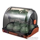 韓加迷你茶具消毒櫃 小型家用消毒器 瀝水烘干茶杯櫃辦公用紫外線【名購新品】