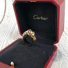 BRAND楓月 CARTIER 卡地亞 HGS386 玫瑰金 美洲豹 綠鑽眼 戒指 13.2G 配件 精品