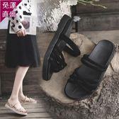 涼鞋 網紅兩穿涼鞋女夏季2019新款搭配裙子ins百搭仙女風時尚平底潮鞋