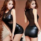 2018春季新款時尚女裝顯瘦上衣 pu皮包臀裙性感夜店兩件套套裝潮