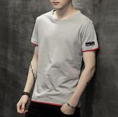 黑五好物節t恤男短袖潮流夏季修身個性半袖純棉體恤衫【洛麗的雜貨鋪】