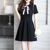 618好康鉅惠洋裝 韓版 顯瘦修身復古印花修身連身裙 小禮服