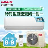 三洋SANLUX★ 8-9坪變頻單冷一對一分離式時尚型冷氣SAC-V50F/SAE-V50F
