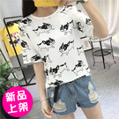 【售完不補】【118-0517】夏裝新款韓版女式短袖t恤