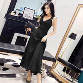 連身裙女夏新款氣質名媛時尚宴會禮服性感露背夜店女 伊蒂斯女裝