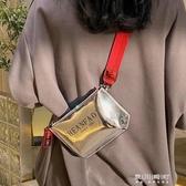 腰包-蹦迪小包包女新款潮ins鐳射寬肩帶斜背包多功能時尚腰包胸包 東川崎町