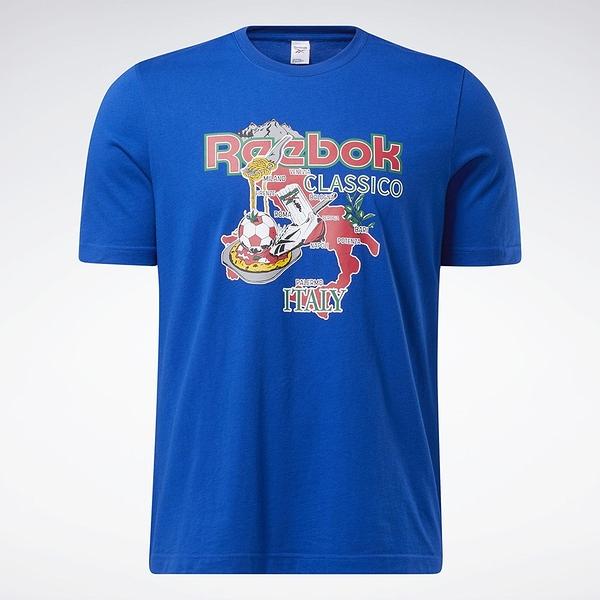 Reebok Classics SOUVENIR 男裝 短袖 T恤 義大利 度假 純棉 藍【運動世界】GN3667