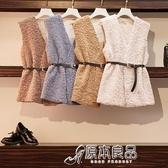馬甲 韓版秋冬季寬鬆百搭V領仿羊羔毛馬甲開衫外套 17店