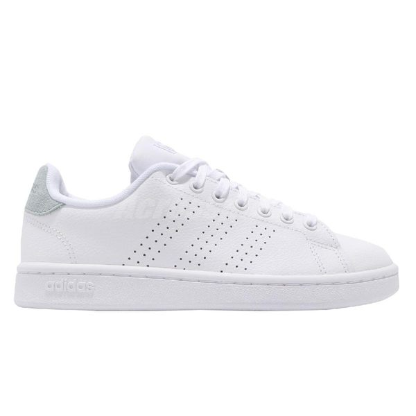 adidas 休閒鞋 Advantage 白 灰藍 女鞋 運動鞋 基本款 皮革 【PUMP306】 EE8203