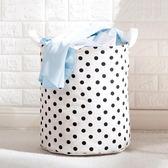 洗衣籃可折疊防水髒衣籃棉麻玩具收納桶 浴室裝衣服髒衣簍洗衣籃 免運直出交換禮物