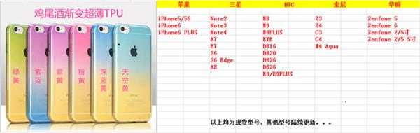 King*Shop~雞尾酒漸變索尼Z4手機殼Z3+保護套E6533超薄透明軟殼tpu彩色外殼